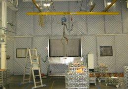 Recubrimiento de paredes con paneles acústicos flexibles