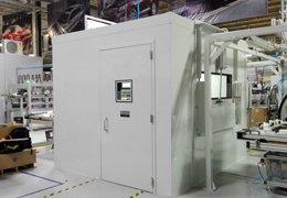 Cabina acústica metálica de alta atenuación.
