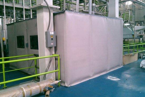 Caseta acústica a base de paneles flexibles